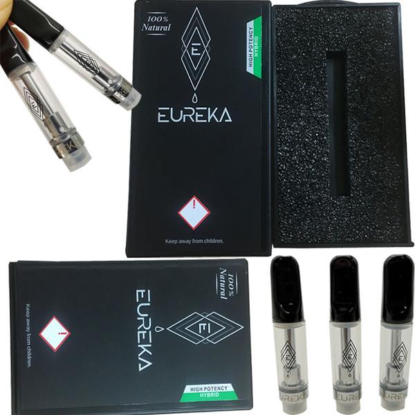 Eureka Suractivé Cartouches en céramique Vape Emballage Nouveau Vape Pen Cartouches 0.8ml 1ML en verre épais huile atomiseurs E Cigarettes Vape Chariots