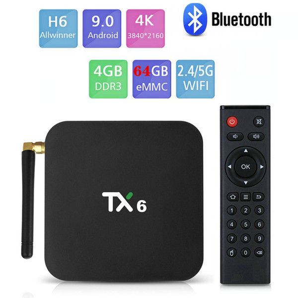 TX6,4GB + 64GB, 2.4G + 5G WiFi, com a BT
