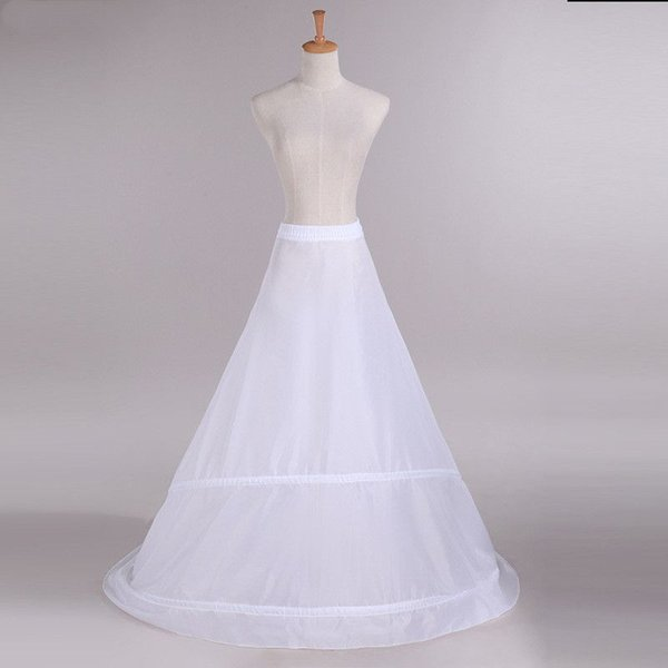 2019 Fashion Bride Petticoats for A Line Wedding Dress Sweep Train Underskirt Lining Bridal Accessories