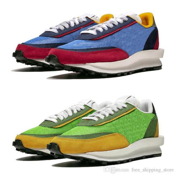 Sacai New LDV Waffle Daybreak running shoes for men women designer luxury sneakers Green Gusto Varsity Blue mens trainer fashion sports shoe