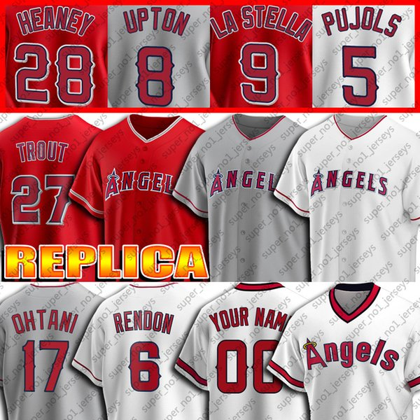 best selling 27 Mike Trout Jersey 6 Anthony Rendon Jerseys 17 Shohei Ohtani Jersey 2 Andrelton Simmons 31 Ty Buttrey 15 Castro Custom Baseball Jersey