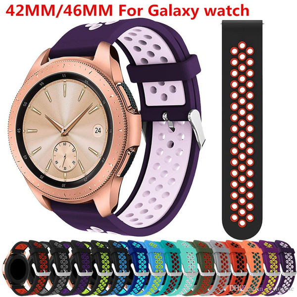 Newest for Samsung Galaxy Watch 46mm Bracelet Accessories 20/22mm Silicone strap for Samsung Galaxy Watch 42mm smart watch band