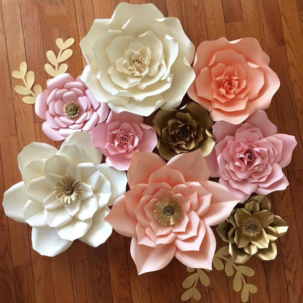DIY Paper Flowers Wall Decorations Children Photo Background Artificial Flower for Wedding Favors and Gifts Paper Flowers