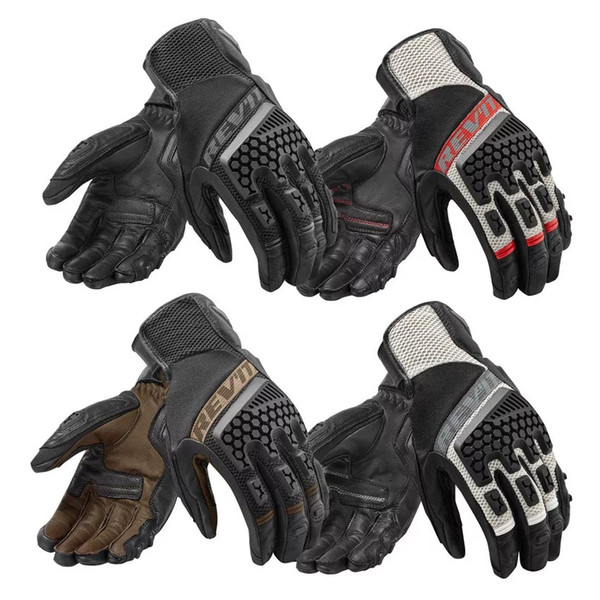 Hot Sale Full Finger Bicycle Bike Motocross Gloves REVIT Racing Gloves Motorcycle ATV Downhill Cycling Riding Genuine Leather Gloves