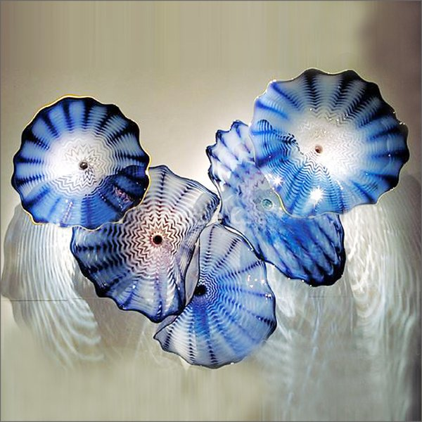 dale tiffany hand blown glass plates wall art decor flower mounted fixture led art flower wall sconces art wall lamps