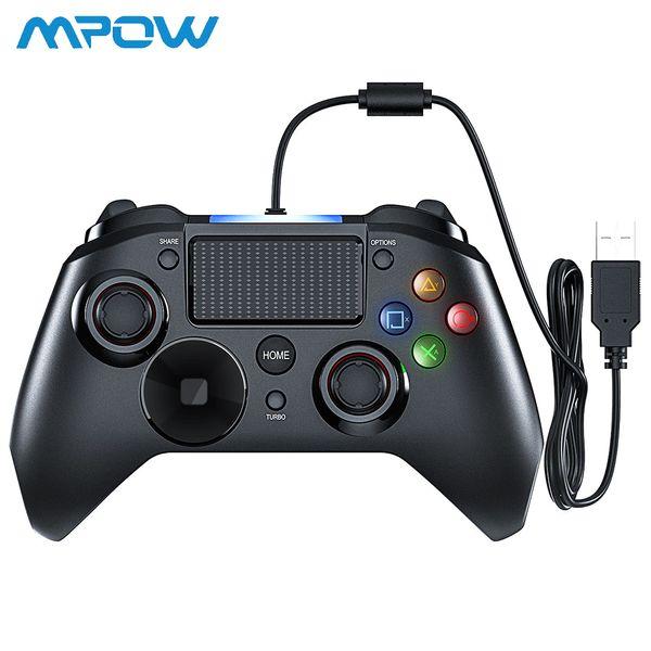 Mpow ps4 spiel controller usb wired gamepad mehrere joystick vibrationsgriff 2 mt kabel gamepad für iphone ipad pc für ps4 / ps3 t6190615