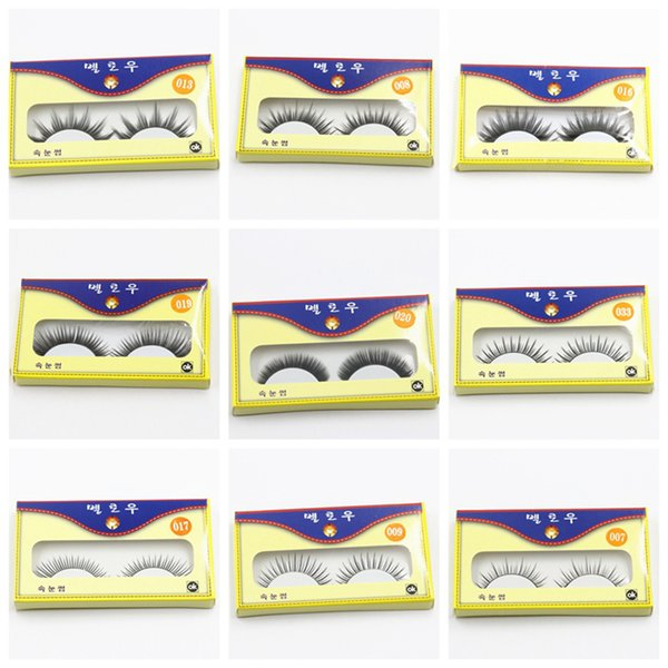3D Vizon Yanlış Lashes Uzun Kalın Doğal Vizon Lashes El Yapımı Yanlış Kirpik Göz Makyaj Araçları 16 stilleri RRA1071