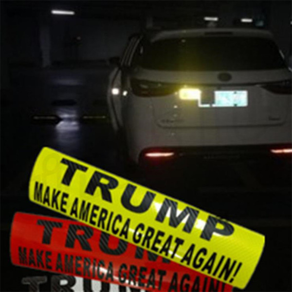 New hot-selling Donald Trump Bumper car sticker reflective sticker Fashion high quality Reflective Wall Stickers T9I002