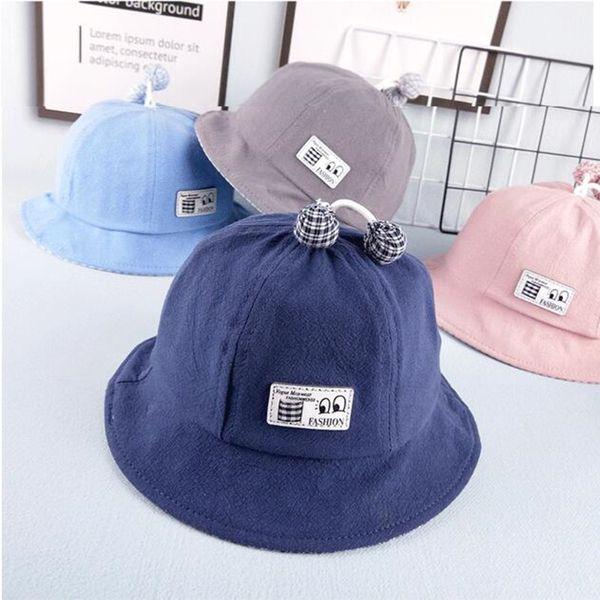 Yeni varış bebek kova şapka ilkbahar yaz sunhat 6-24 ay bebek çocuk rahat kap toptan giymek
