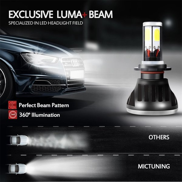 1 paire G5-H7 Auto LED phare de voiture 6000K 80W 8000LM 9V-36V haute puissance COB Leds Ampoules Kit Lampe frontale IP68 Plug and Play