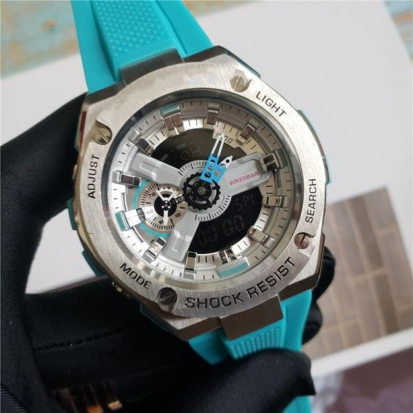 T400 GA Reloj deportivo unisex Pantalla LED digital a prueba de agua ya prueba de golpes Hora mundial 50 mm Dial grande Envío gratis