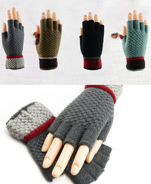 Colorful Unisexy Fingerless Fitness Gloves Warm outdoor Fingerless Knitted Gloves For Winter/Autumn/Spring DHL Free 100pcs
