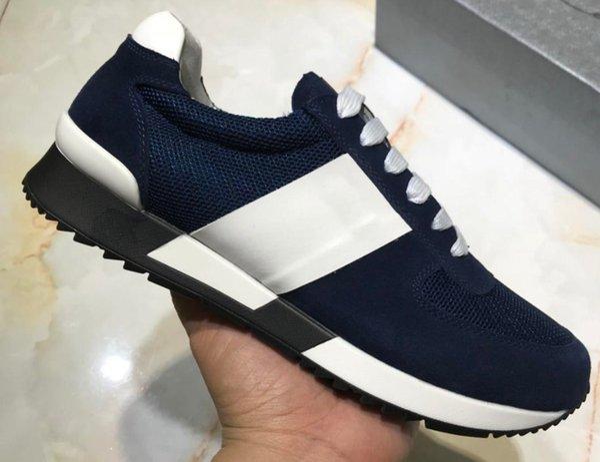 NOVITÀ scarpe casual da uomo in pelle sneakers di design moda in vera pelle colore misto scatola originale