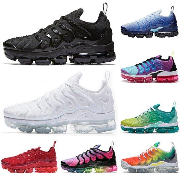Compre Nike TN Plus Vapormax Air Max Airmax 2019 TN PLUS Zapatillas De Running Para Hombre Mujer Negro Velocidad Rojo Blanco Antracita Ultra Blanco