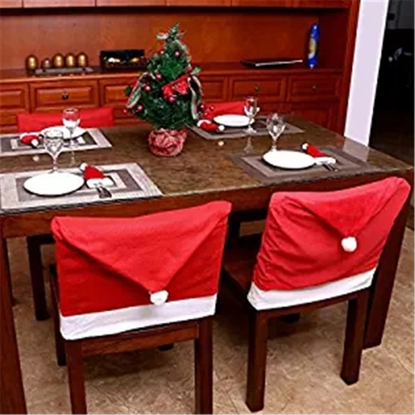 Tremendous Santa Claus Chair Back Cover Decor Christmas Dining Chair Decoration Home Party Outside Christmas Decoration Outside Christmas Decorations From Machost Co Dining Chair Design Ideas Machostcouk