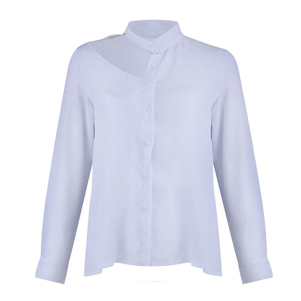 Sexy Womens Strapless Casual Asymmetrical Tops Long Sleeve Solid Shirt Tops Evening Party Kraagje Nep Dames Blouse