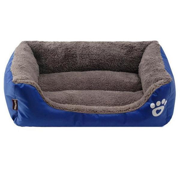 S-3XL 9 Colors Paw Pet Sofa Dog Beds Waterproof Bottom Soft Fleece Warm Cat Bed House Petshop Cama Perro Breathable