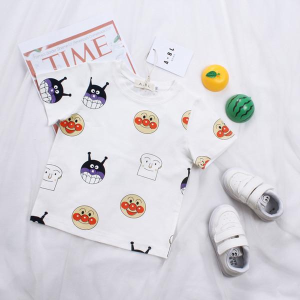 Camiseta para niños Niños y niñas camiseta Ropa de bebé Little Boy Camisa de verano Camisetas Diseñador Algodón Ropa de dibujos animados 1-6Y
