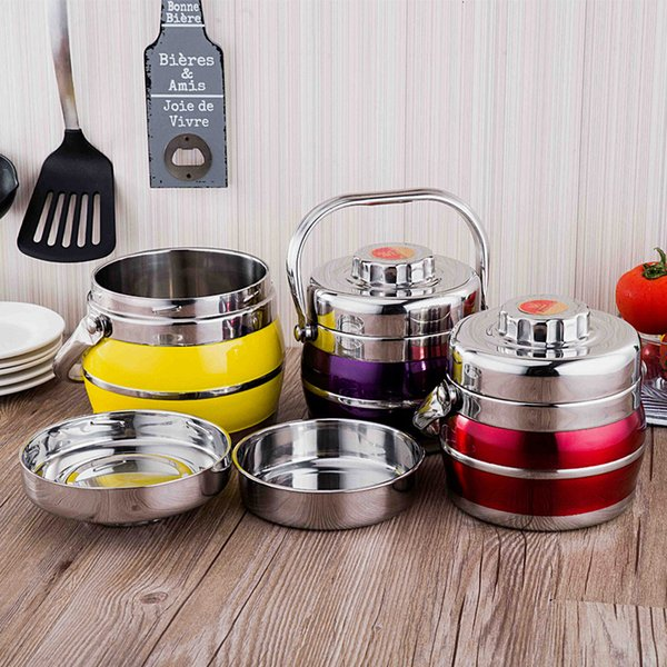 Stainless Steel Lunch Box Vacuum Thermo Thermal Portable Food Container Metal Set Picnic Bento Box Kids Adult Japanese Lunchbox C18112301
