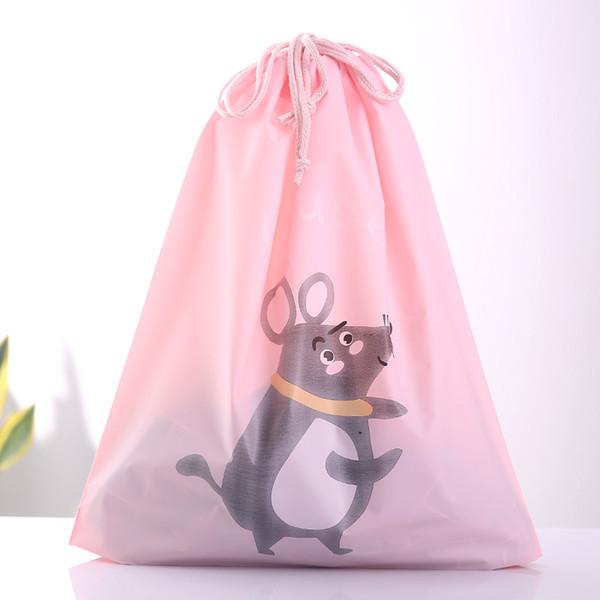 Transparent Travel Cosmetic Bag Kawaii Mouse Make Up Waterproof Makeup Beauty Wash Organizer Drawstring Toiletry Storage Kit