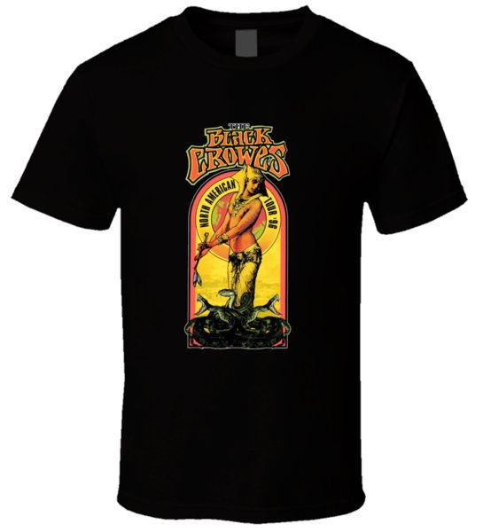 Black Crowes American Rock Band 2 T-shirt Homme