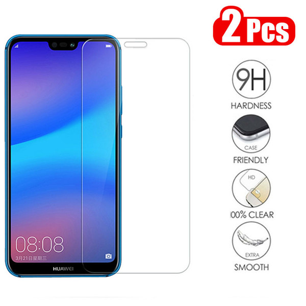 2Pcs/lot Full Tempered Glass For Huawei P20 Lite Screen Protector Anti Blu-ray ProtectoHuawei P20 Pro Honor8 9 10 Lite Honor 8X