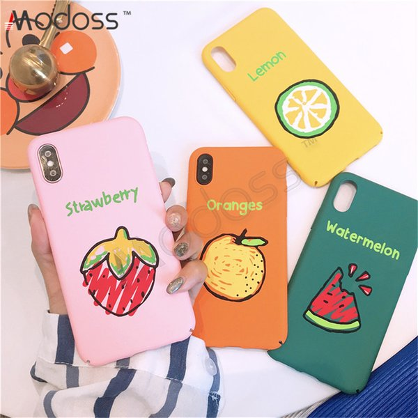 ZZYD Ultra thin Hard PC Fruit Design Bumper Colorful Cell Phone Protective Covers Case For IPhone X XR XS MAX