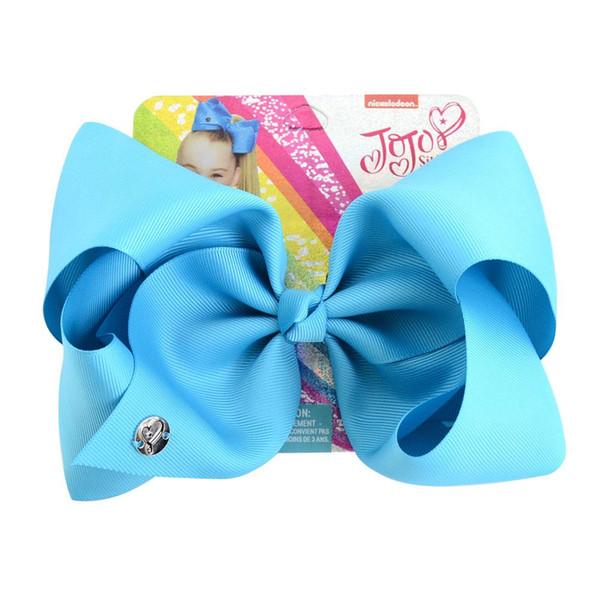 8 zoll Große jojo Haarschleife Solide stirnband Haarspangen Für Mädchen Handgemachte Regenbogen Tanzparty Kinder Boutique Haarschmuck 20 Farben Erhältlich