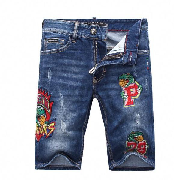 2019 fashion new denim shorts Male summer blue short pants 1865A