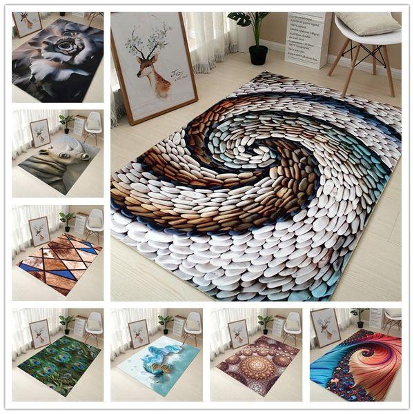 Creative Europe Type 3D Printing Carpet Hallway Doormat Anti - Slip Bathroom Carpet Absorb Water Kitchen Mat/Rug
