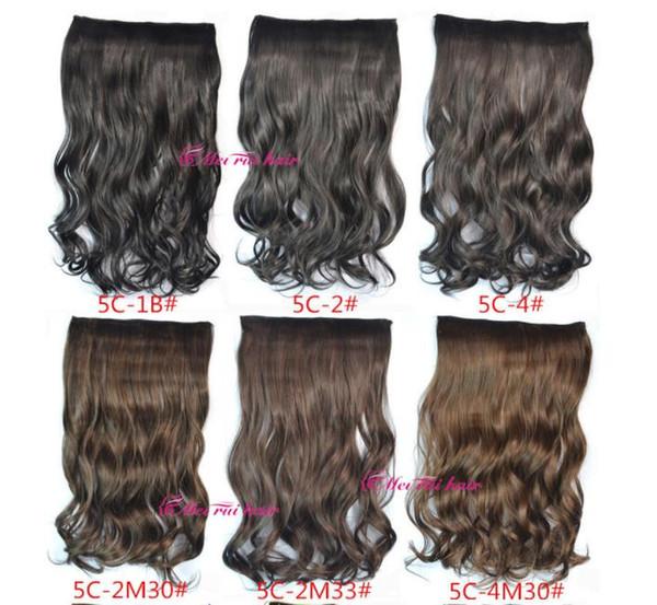 Prodotti per capelli Coda di cavallo sintetica Clip In sulle estensioni dei capelli Coda di cavallo 24 pollici capelli sintetici Wave pezzi più 20 colori opzionale FZP176
