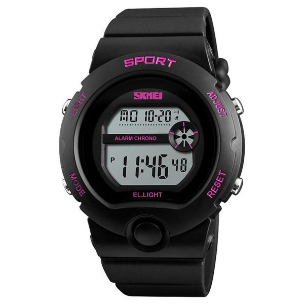 SKMEI 1334 Mujeres Creativas Reloj Digital Reloj De Mujer Damas Relojes Mujer Reloj Deportivo Impermeable LCD Reloj Despertador Electrónico Hora