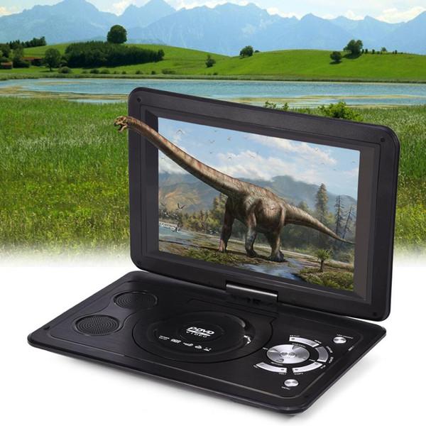 Powstro 13.9 inch 110-240V HD TV Portable DVD Player 800*480 Resolution 16:9 LCD Screen for EU Plug DVD Players 2018