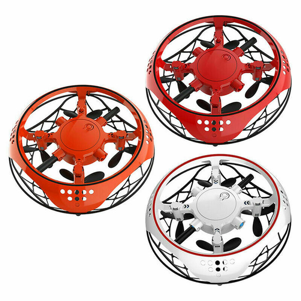 top popular Pudcoco Electric Electronic Toy LED Mini Induction Drone UFO toys Kids Xmas Brithday Gifts Magic Hand UFO Flying Aircraft Drone 2021