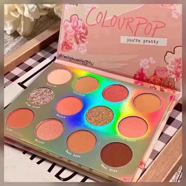 Colorpop 12 Colores Sweet Talk Matte Base de brillo del reflejo de la gama de colores Maquillaje Sombra de Ojos Paletas de Maquillaje