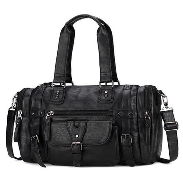 новый 2019 мужские сумки досуга мужской кожаный портфель Портфель Известные сумки на ремне для ноутбука Коммуникатор BagHandbag