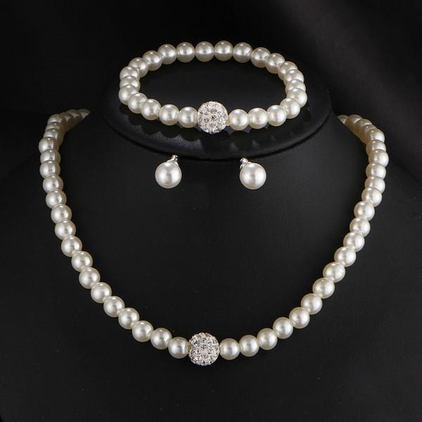 Joyería africana Moda clásica personalidad salvaje collar de perlas de imitación traje de novia venta al por mayor Conjuntos de joyas 2019 nuevo