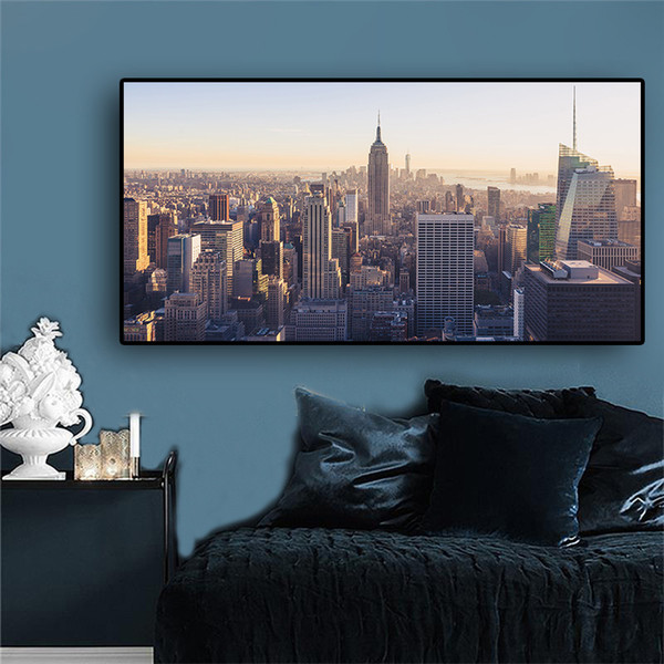 1 Pcs Building New York City Manhattan Empire State Canvas Art Scandinavian Posters and Prints Landscape Wall Picture No Frame