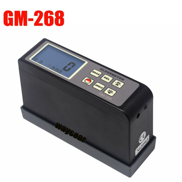 Freeshipping GM-268 Portable Digital Glossmeter Gloss Meter Tester Surface Cleaning Tester range 0.1-200Gu 20 60 80 Multi-angle gloss meter