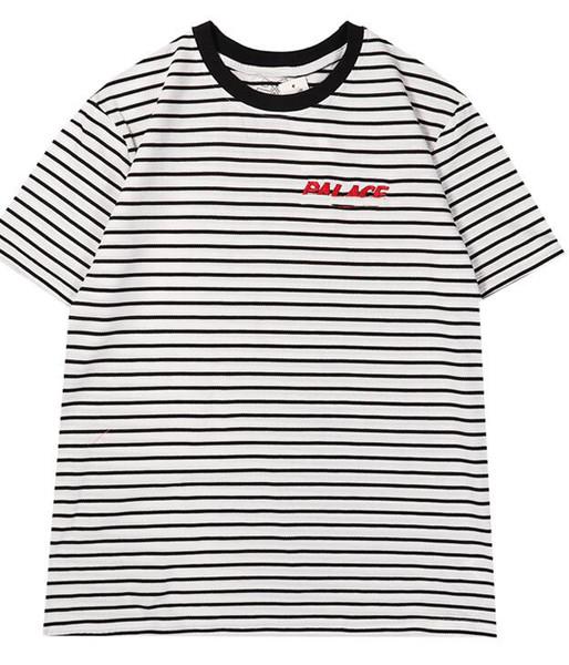 Designer Men's Tshirt Fashion Stripe Sports Tshirts Slim Comfort T-shirt Cotton Print T-shirts Men and Women Palaces Sets Trends Quality T S