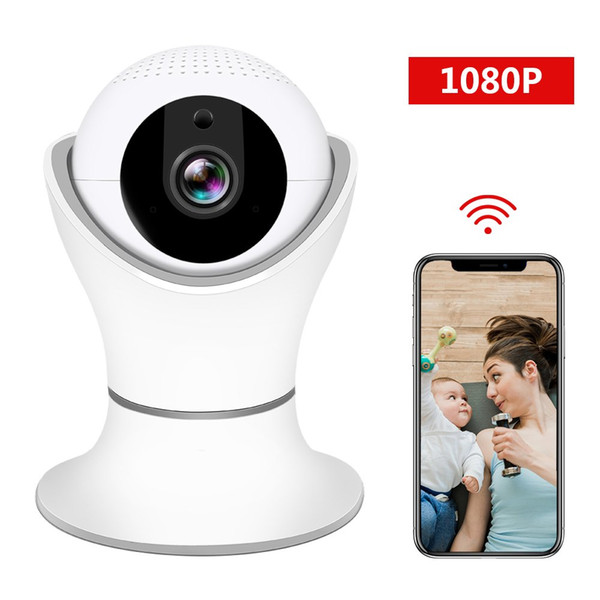 HD 1080P Wireless IP Camera, WiFi Home Security Surveillance IP Camera with for Elder/Pet/Office/Baby Monitor, Nanny Cam with PTZ Two Way
