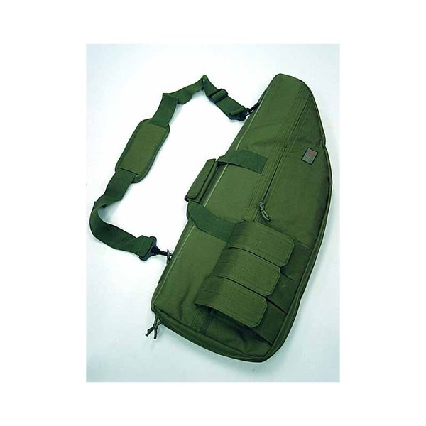 """911 Tactical 29"""" 12"""" 70cm Wide Carry Case Rifle Gun Foam Dark Earth Olive Drab Tan CP Bag With Sling Slip #324660"""