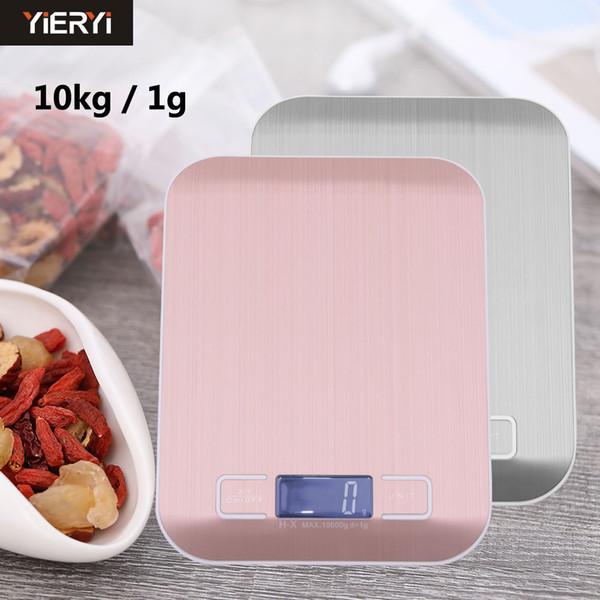 YIERYI 5KG / 1g 10KG / 1G Balances numériques portables pour la cuisine Balance haute précision Balance de haute qualité Balances électroniques pesant des balances alimentaires