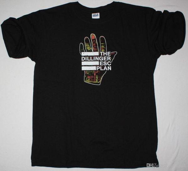 Рубашки Диллинджер побег план вариант паралич черный мужская футболка сходятся автомобиль бомба плюс размер повседневная одежда