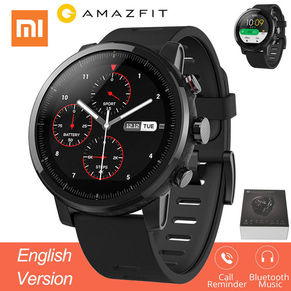 Huami Amazfit 2 Amazfit Stratos Pace 2 Smart Watch Hombres con GPS Relojes Xiaomi PPG Monitor de frecuencia cardíaca 5ATM impermeable