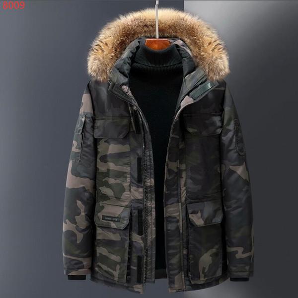 chaquetas Ártico Anorak de Down 2019 Últimas lanas de la manera de los hombres del hombre rico Invierno ganso chaqueta 90% Grueso al aire libre Parka Outwear tibia