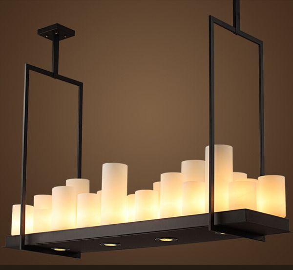 Kevin Reilly Sunak Modern Sarkıt LED mum uzaktan kumanda avize Aydınlatma Yenilikçi metal fikstür mum süspansiyon lambası