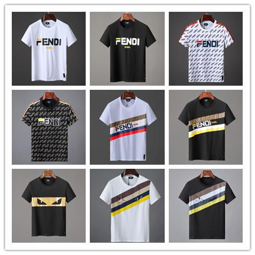 xiaoyancong / New 2019 Fashion Design Brand Men's Casual Cotton Snake and stripe short sleeve T Shirts #885212