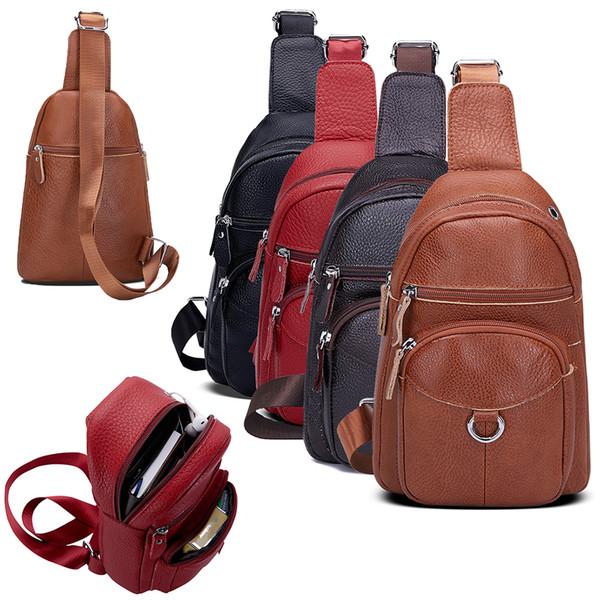 Women Casual Shoulder Handbag Travel Men Messenger Cross Body Leather Bag Satche