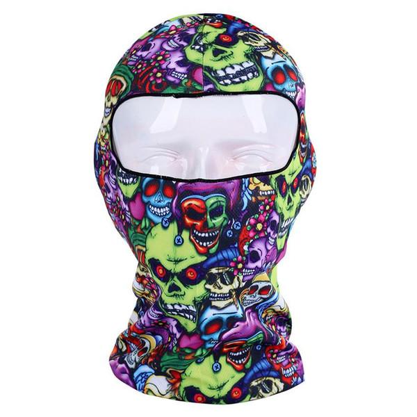Sottile 3D Outdoor Ciclismo Sci Balaclava Collo Cappuccio Maschera a pieno facciale Cappello Beanie Animal Accessori ciclismo Super Deal M10